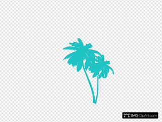Palm Trees SVG Clipart
