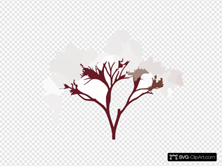 Almond Tree Blossom SVG Clipart