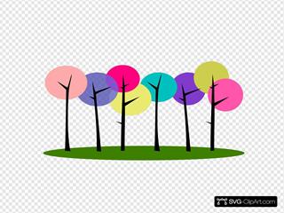 Colorful Tree Clip Art