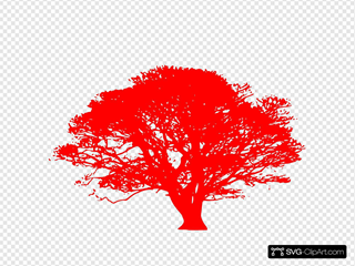 African Tree Red SVG Clipart