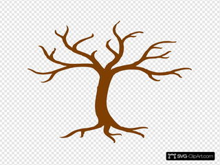 Brown Tree Bare SVG Clipart
