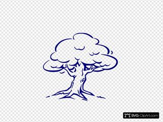 Oak Tree Clip Art Icon And Svg Svg Clipart