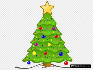 Christmas Tree SVG Clipart