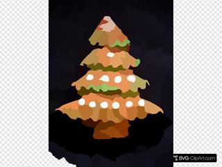 Gingerbread Xmas Tree Patjila