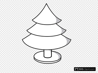 Christmas Tree Clipart Outline.Christmas Tree Outline With Wide Stand Clip Art Icon And