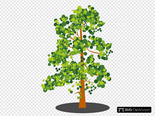 Green Brown Abstract Tree Clip Art Icon And Svg Svg Clipart