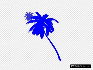 Palm Trees-blue