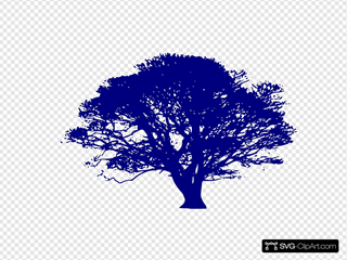 Dark Blue Tree
