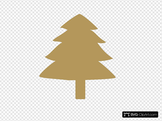 Gold Tree SVG Clipart