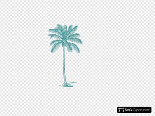 Teal Palm Tree