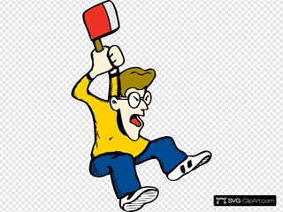 Angry Guy With Axe SVG Clipart