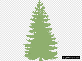 Tree Silhouette - Light Green