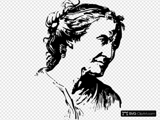Face Expression Old Woman SVG Clipart
