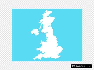 Uk Map Blue