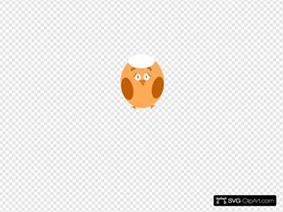 Afraid Brown SVG Clipart
