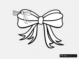 Gift Bow White