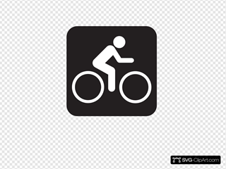 Bicycle Trail Black Clipart