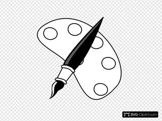 Paint Palette SVG Clipart