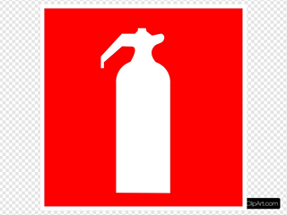 White Fire Extinguisher With Red Background