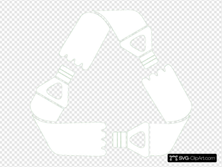 Green Recycled Clip Art SVG Clipart