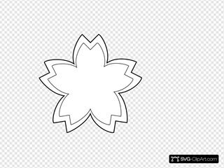 Simple Flower Outline SVG Clipart