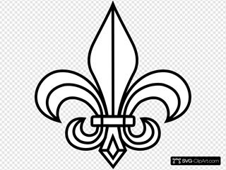 Ffs Fleur De Lis SVG Clipart