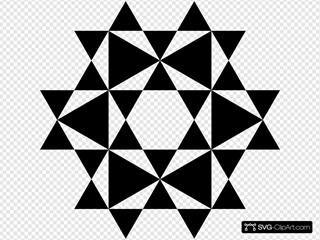 Nested Hexagram SVG Clipart