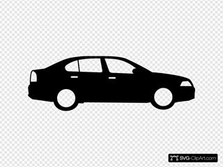 Black Sedan Car