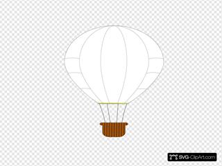 White Hot Air Balloon