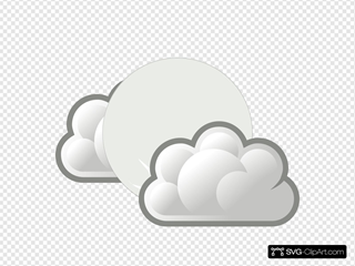 Weather Few Clouds Night SVG Clipart
