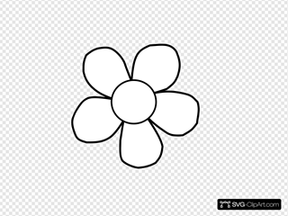Black And White Daisy Clip art, Icon and SVG - SVG Clipart
