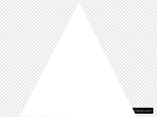 White Triangle Clip Art at Clker.com - vector clip art online, royalty free  & public domain