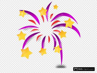 Cartoon Fireworks