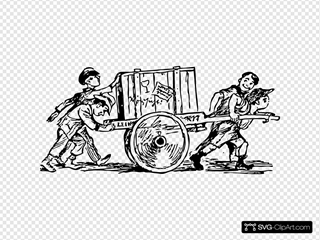 Cart Carrying A Crate