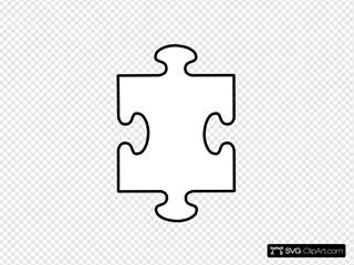 Puzzle Piece White