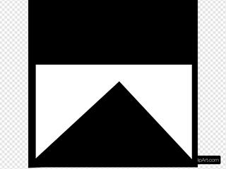 White Upside-down Wedge