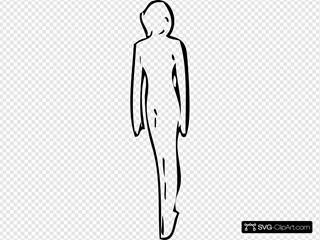 Walking Woman White Silhouette