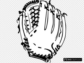 Baseball Glove (b And W)