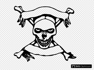 Skull With Banners