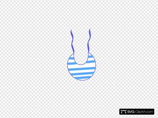 Blue White Striped Bib