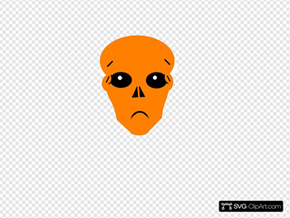 Orange Worried SVG Clipart