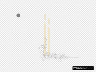 Wedding Candles SVG Clipart