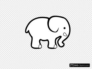 White Elephant Clip Art Clipart