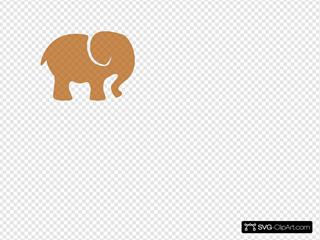 Orange White Elephant