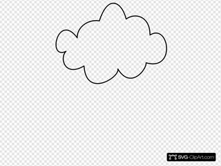 Simple Cloud Outline