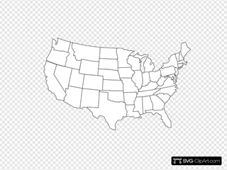 Black And White U.s. Map