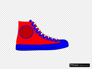 High Top Shoe Clipart
