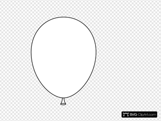 White Balloon Svg Vector White Balloon Clip Art Svg Clipart