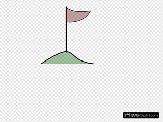 Golf Flag In Hole On Green