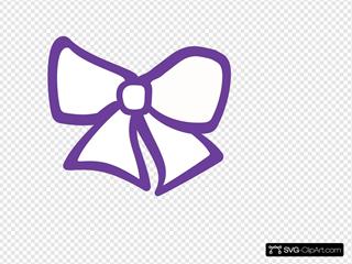 Hair Bow Purple